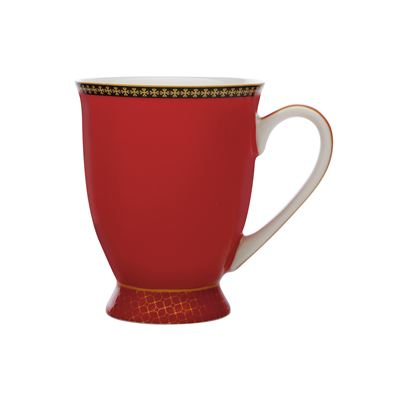 Teas & C's Contessa Classic Footed Mug 300ML Red Gift Boxed