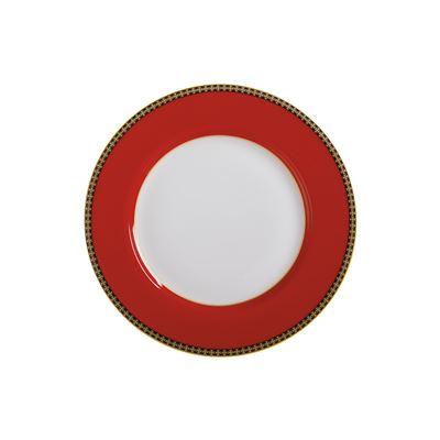 Teas & C's Contessa Classic Rim Plate 19.5cm Red Gift Boxed