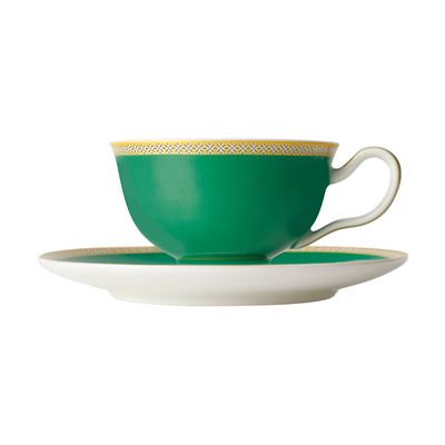 Teas & C's Contessa Classic Footed Cup & Saucer 200ML Green Gift Boxed