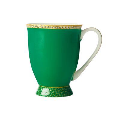 Teas & C's Contessa Classic Footed Mug 300ML Green Gift Boxed