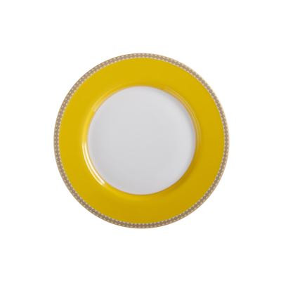 Teas & C's Contessa Classic Rim Plate 19.5cm Yellow Gift Boxed