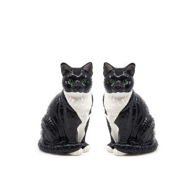 S&P Animalia Black & White Cat S/2