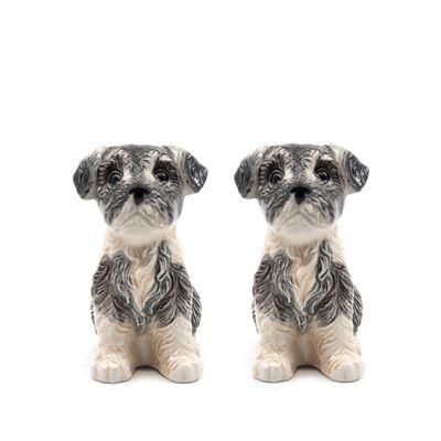 S&P Animalia Schnauzer Dog S/2