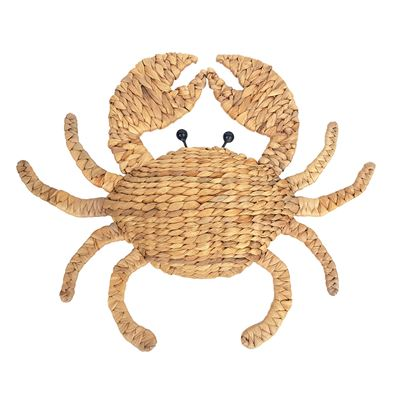 Crab Woven Wall Hanging 50x45cm - Natural
