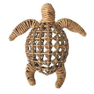Turtle Woven Wall Hanging 40X44Cm-Natural