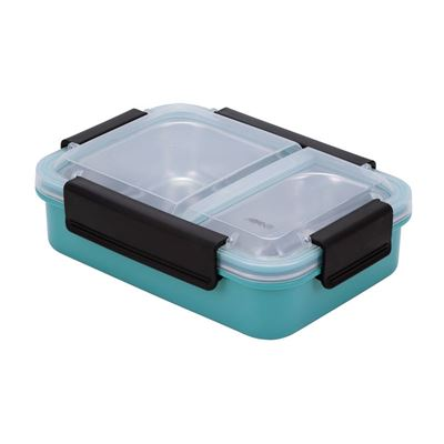 Avanti 2 Compartment Lunch Box Turquoise