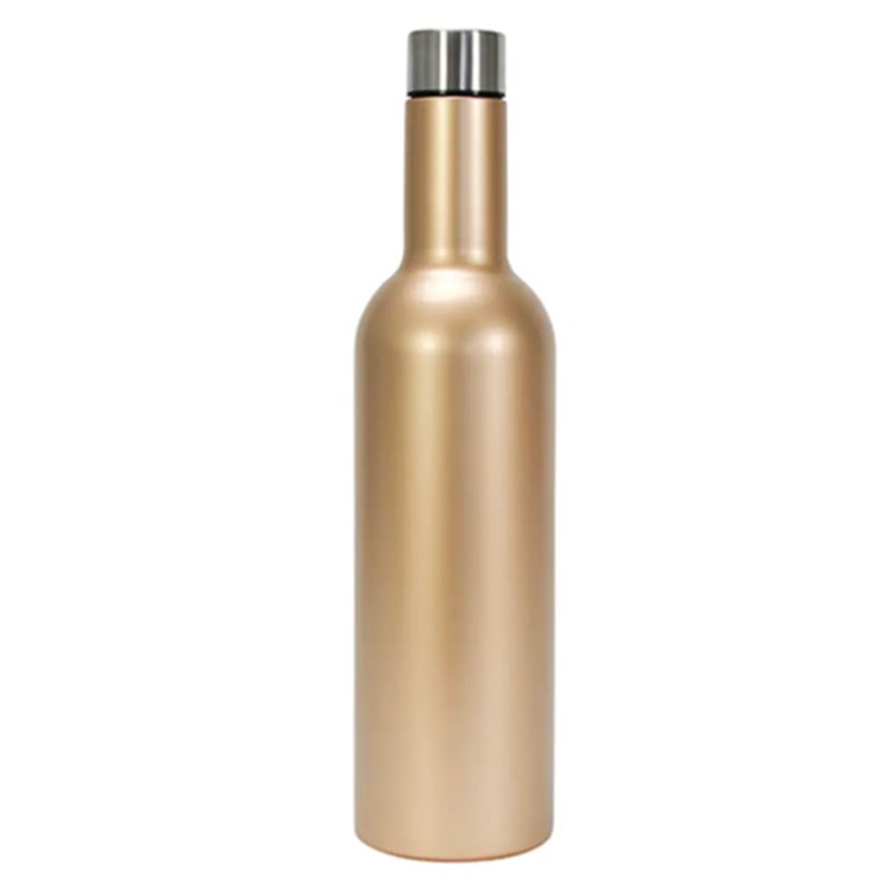 Wine Bottle Stainless – Gold
