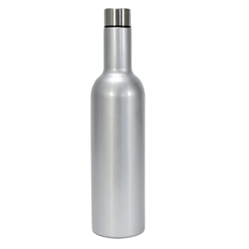Wine Bottle Stainless – Silver
