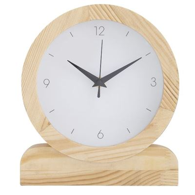 Presley Mantel Clock Natural