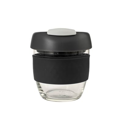 Glass Go Cup 236ml Black