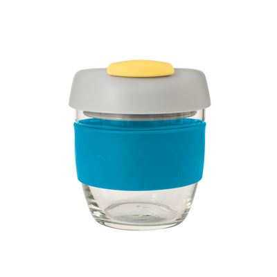 Glass Go Cup 236ml Blue