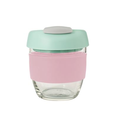 Glass Go Cup 236ml Pink