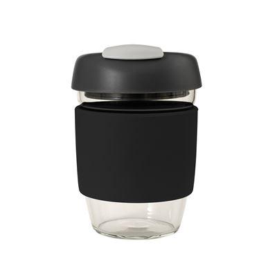 Glass Go Cup 355ml Black