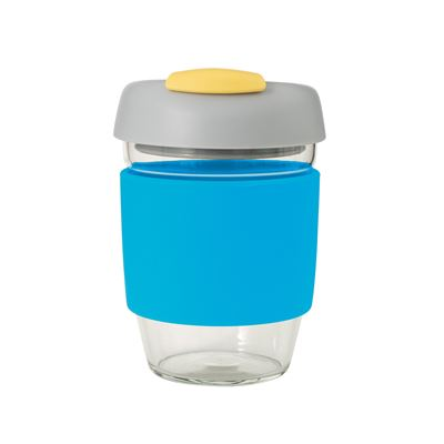 Glass Go Cup 355ml Blue