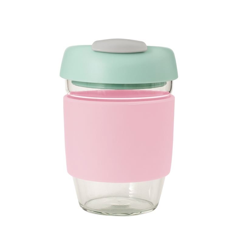 Glass Go Cup 355ml Pink
