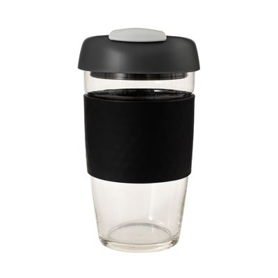 Glass Go Cup 473ml Black