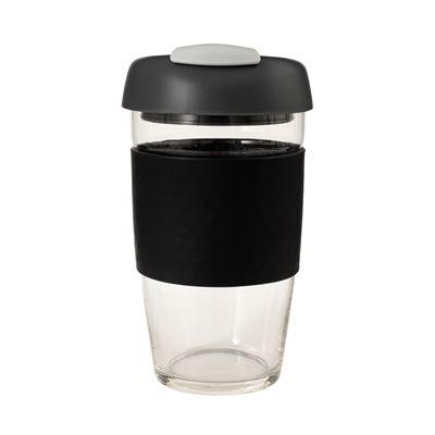 Glass Go Cup 473ml Black