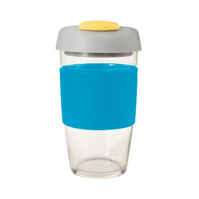 Glass Go Cup 473ml Blue