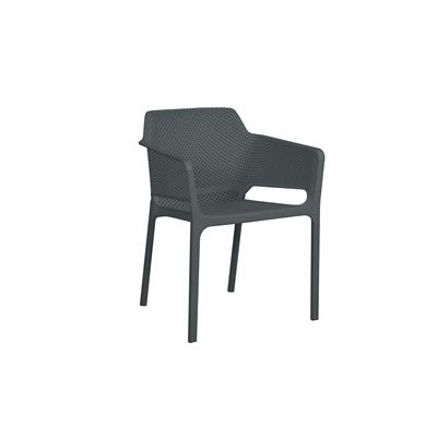 Bailey Resin Dining Chair Charcoal