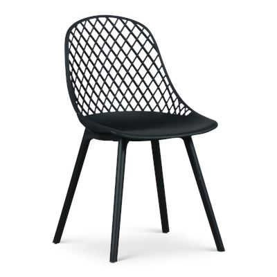 Cosmos Resin Dining Chair Black
