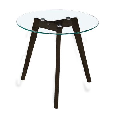 Astrid Side Table Glass & Black Large
