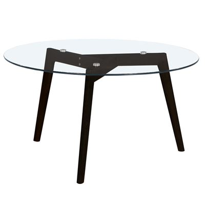 Astrid Coffee Table Glass & Black 90cm