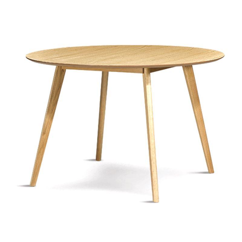 Ingrid Round Dining Table Oak 120cm