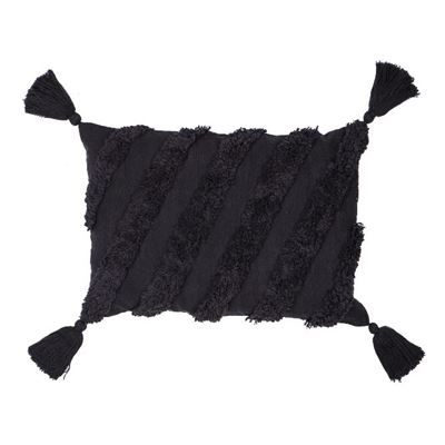 Mirage Cushion Black 60x40cm