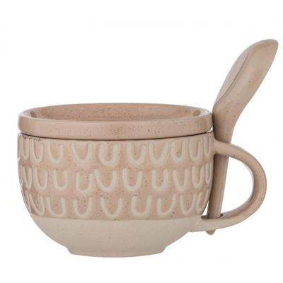 Kitson Soup Mug Set 3pce Nude/Natural