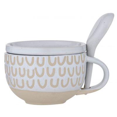 Kitson Soup Mug Set 3pce White/Natural