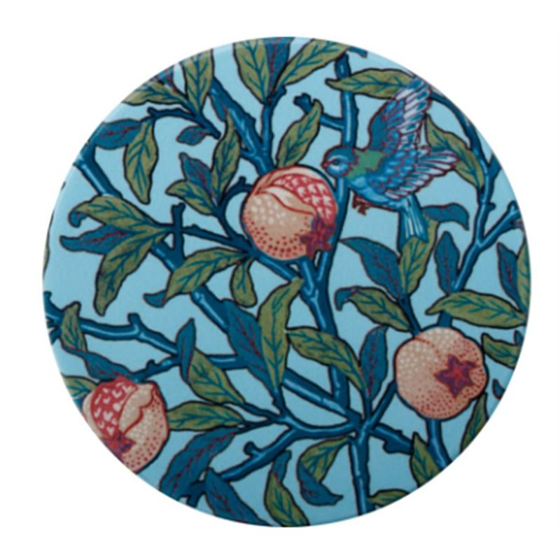 William Morris Ceramic Coaster 10cm Bird & Pomegranate