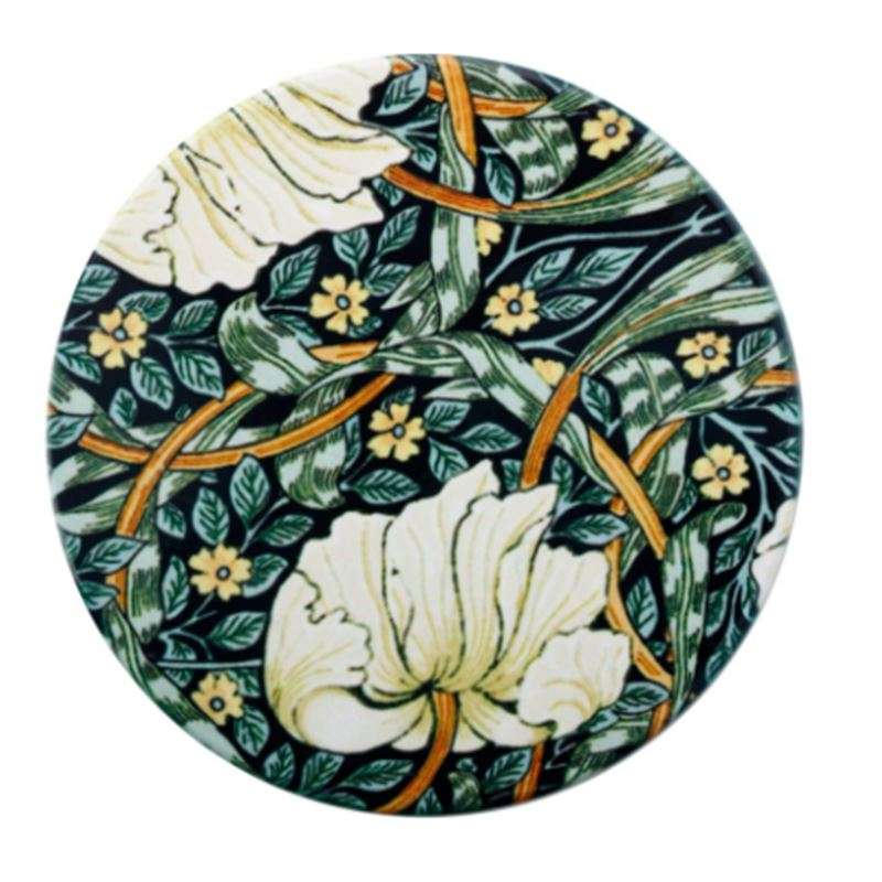 William Morris Ceramic Coaster 10cm Pimpernel