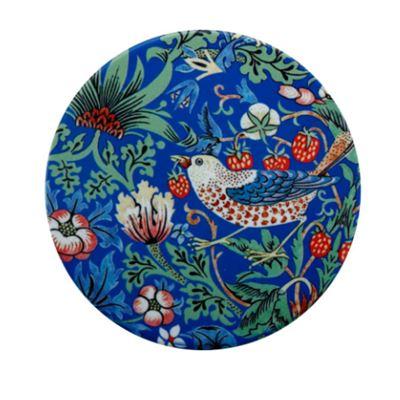 William Morris Ceramic Coaster 10cm Strawberry Thief Blue