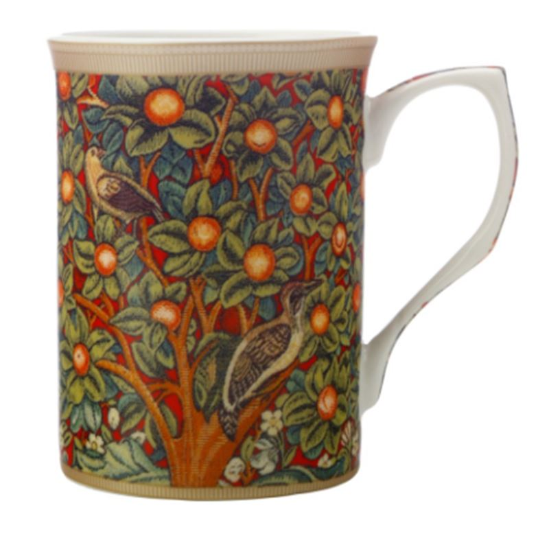 William Morris Mug 300ML Red Woodpecker Gift Boxed