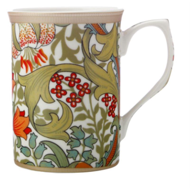 William Morris Mug 300ML Golden Lily Gift Boxed