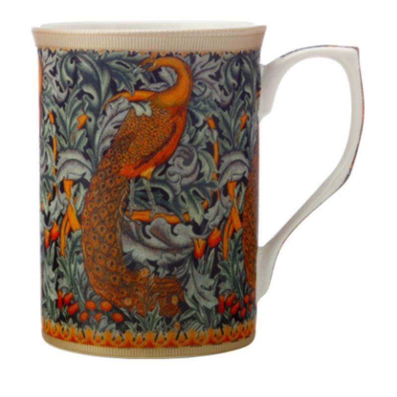 William Morris Mug 300ML Peacock Gift Boxed