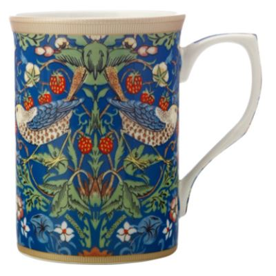 William Morris Mug 300ML Strawberry Thief Blue Gift Boxed