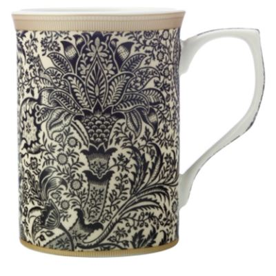 William Morris Mug 300ML Black Seaweed Gift Boxed