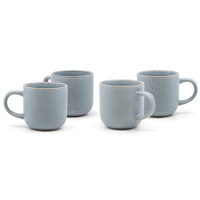 Hana Mug Light Blue 380ml Set of 4