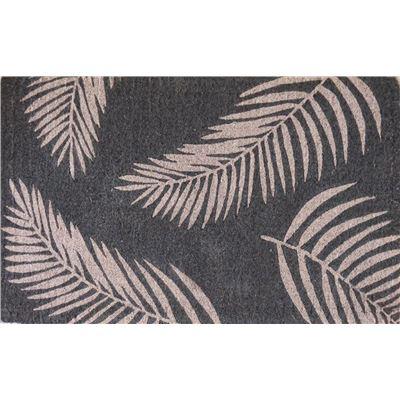 Coir Fern Doormat Grey 50x80cm