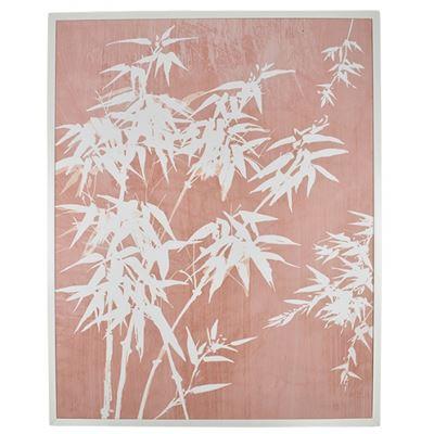 Banbu White Frame Canvas 80x100cm Pink