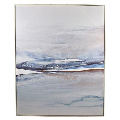 Rainn White Wash Frame Canvas 80x100cm