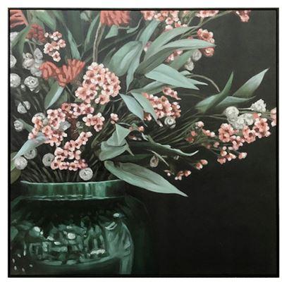 Enchanted Natural Frame Oil Paint 100x100cm