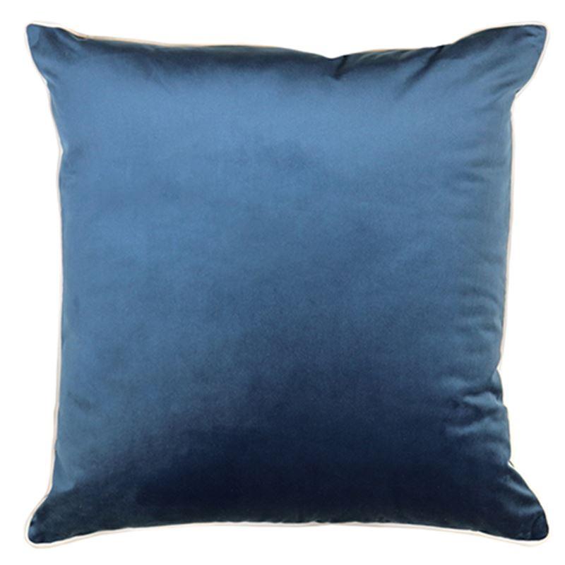 Clifton Ink Velvet Piped Cushion 55cm