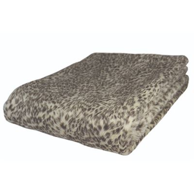 Snow Leopard Faux Fur Throw 130x150cm
