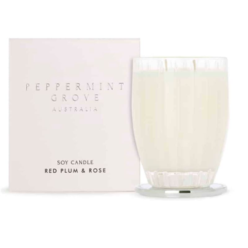 Red Plum & Rose – Large Soy Candle 350g
