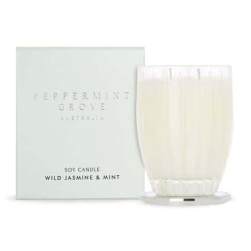 Wild Jasmine & Mint – Large Soy Candle 350g
