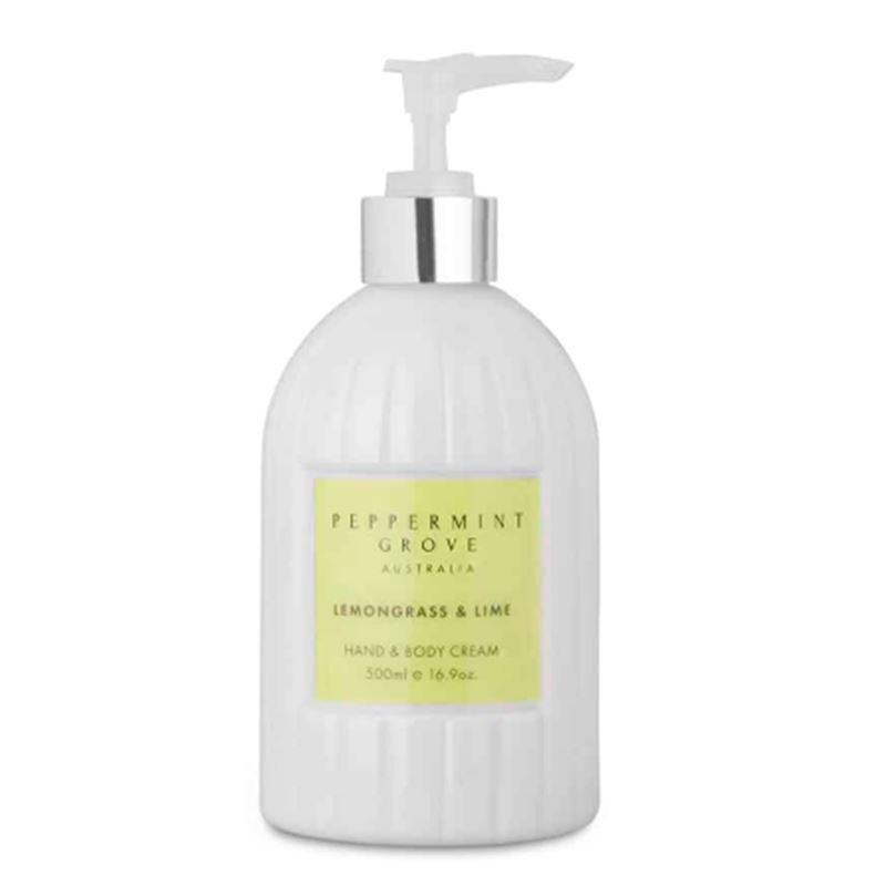 Lemongrass & Lime – Hand & Body Cream 500ml