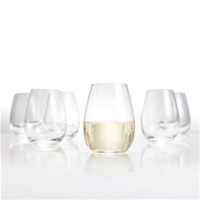 Salut Stemless Wine Glasses Set of 6