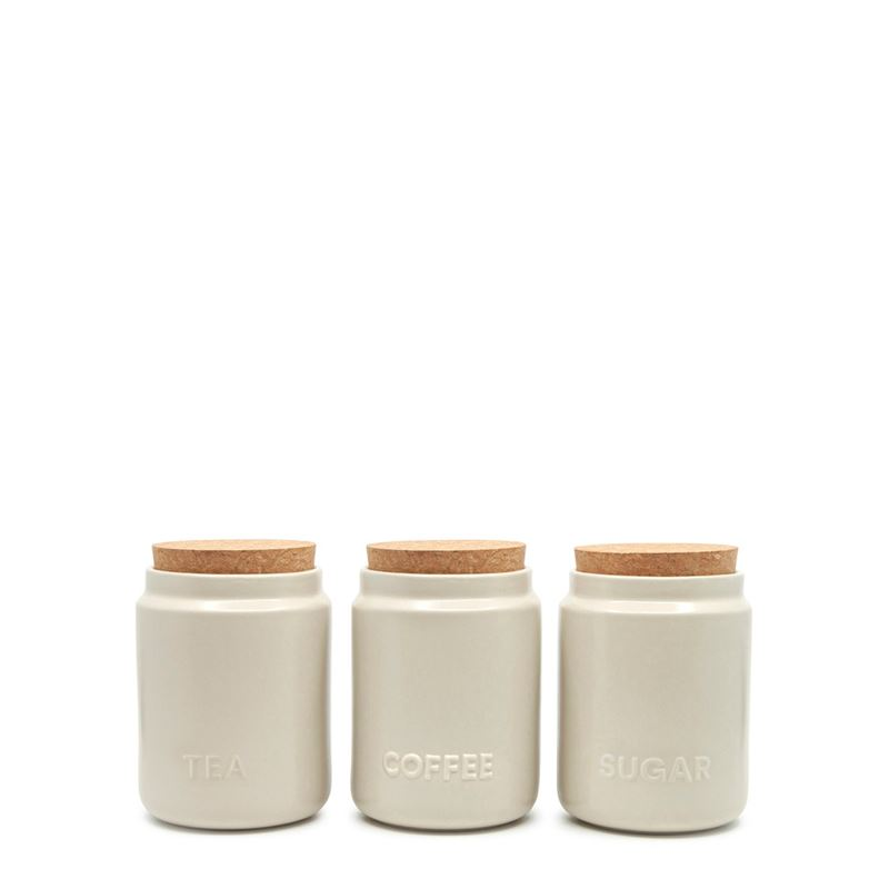 Strand Canister Stone 10X13Cm S/3